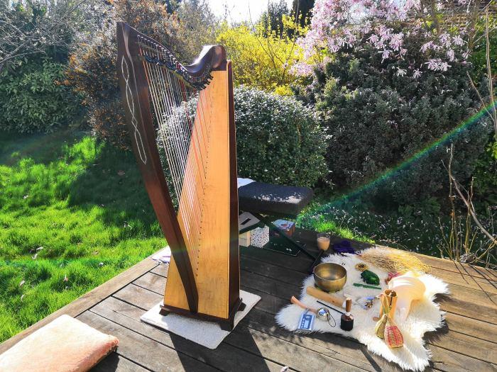 Harp at the Healing Market