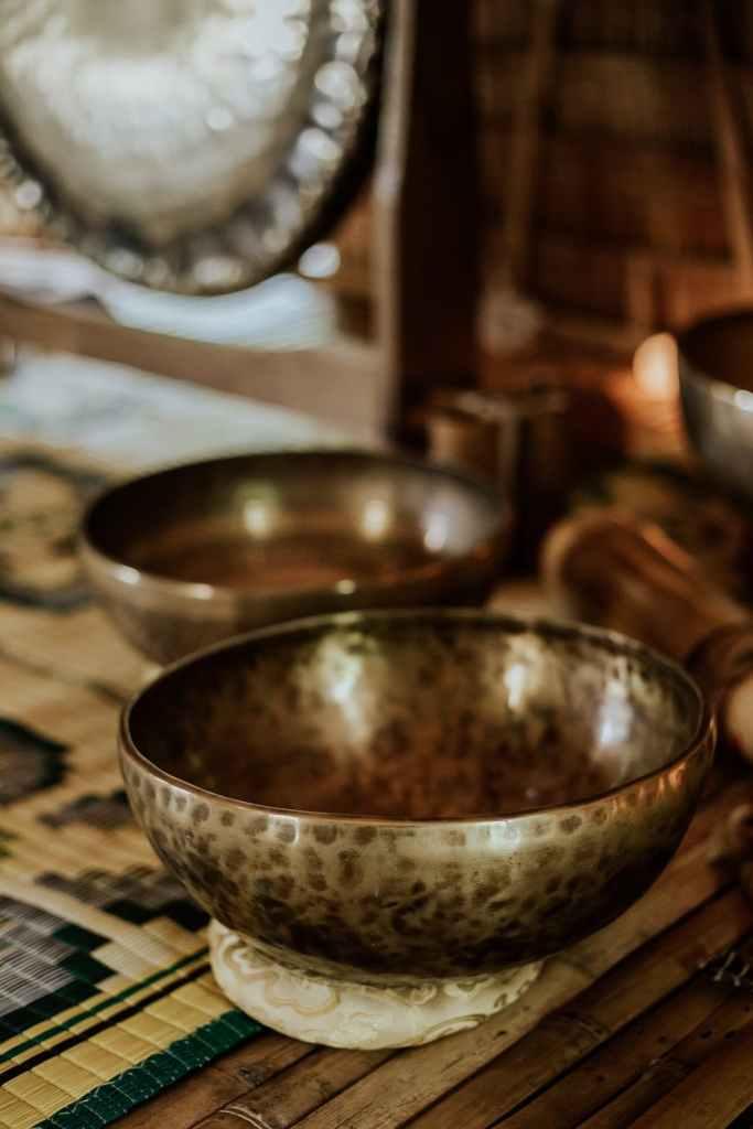 Singing bowl at Sound Bath